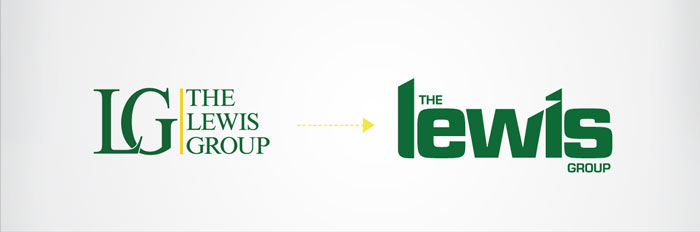 The Lewis Group, Royersford, PA Corporate Identity Rebrand