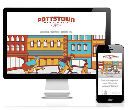 Pottstown Bike Race website design, Pottstown, PA