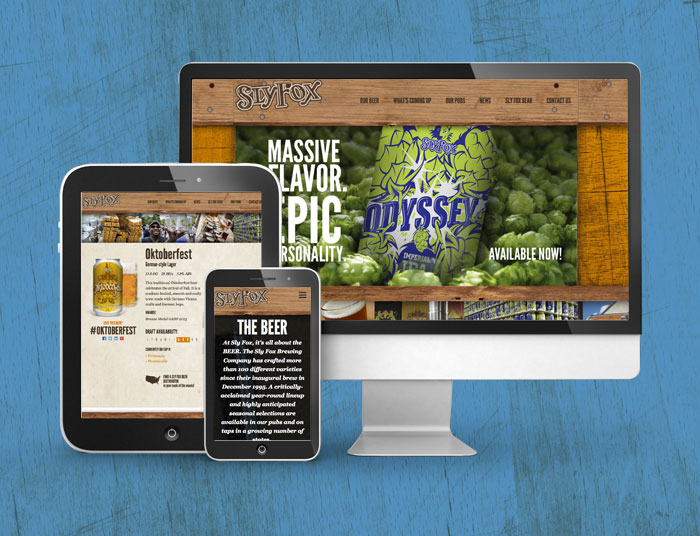 Sly Fox Brewing Company Website Update