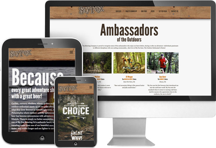 Sly Fox Brewing Company's Website