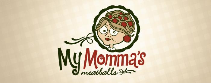 My Mommas Meatballs branding