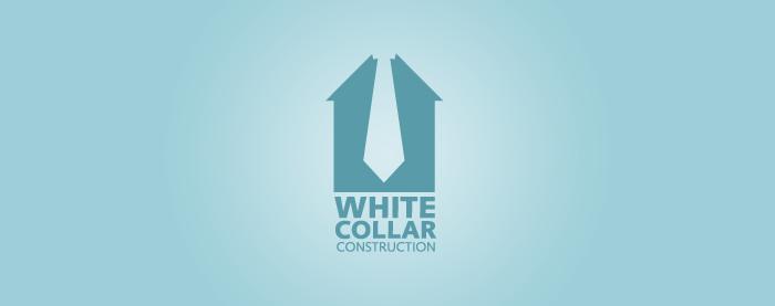 White Collar Construction Logo