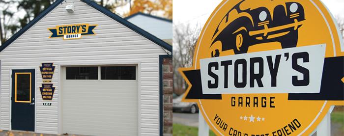 Story's Garage Signage