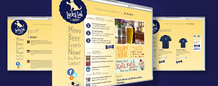 Lucky Lab Tavern Website