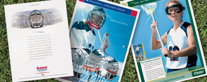 Riddell Lacrosse & Shamrock Lacrosse Ads
