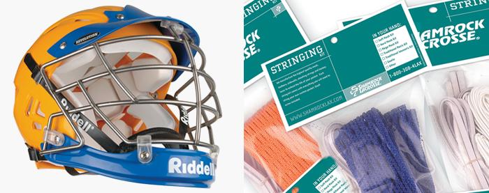Riddell Lacrosse & Shamrock Lacrosse Packaging