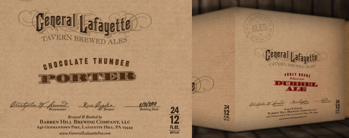 General Lafayette Brewery 12oz. Bottle Cases