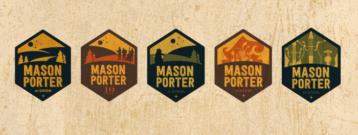Mason Porter Band Branding Identity Logos
