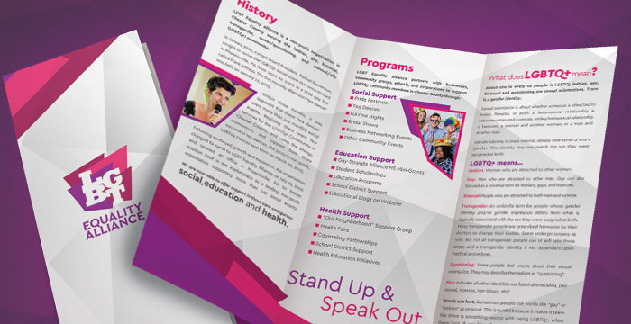 LGBT Equality Alliance Event Collateral and Brochures