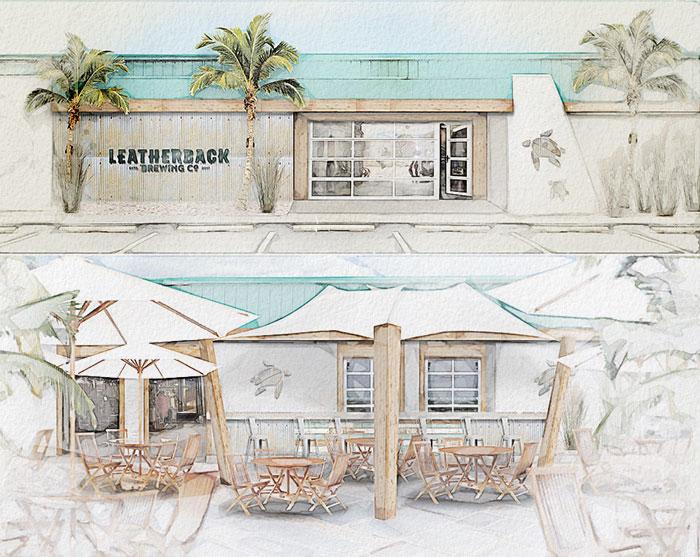 Leatherback Brewing Company Environmental Branding Interior and Exterior Restaurant Design St. Croix, United States Virgin Islands