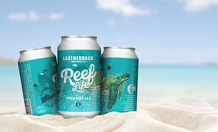 Leatherback Brewing Company Beer Packaging Branding and Design
