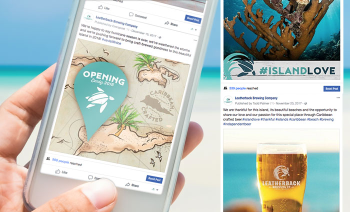 Leatherback Brewing Company Social Media Campaign Management
