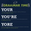GRAMMAR TIME: Your, You're, Yore