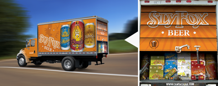 Sly Fox Brewing Company Box Truck