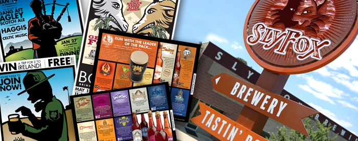 Sly Fox Brewing Company Signage and Collateral