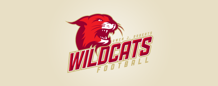 Owen J. Roberts Wildcats Football Logo