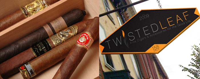 Twisted Leaf Cigars Photography & Signage