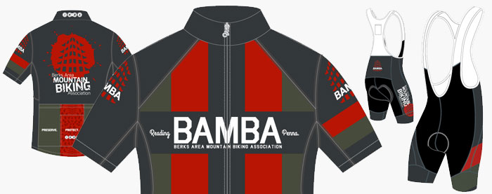 Berks Area Mountain Bike Association Cycling Jerseys