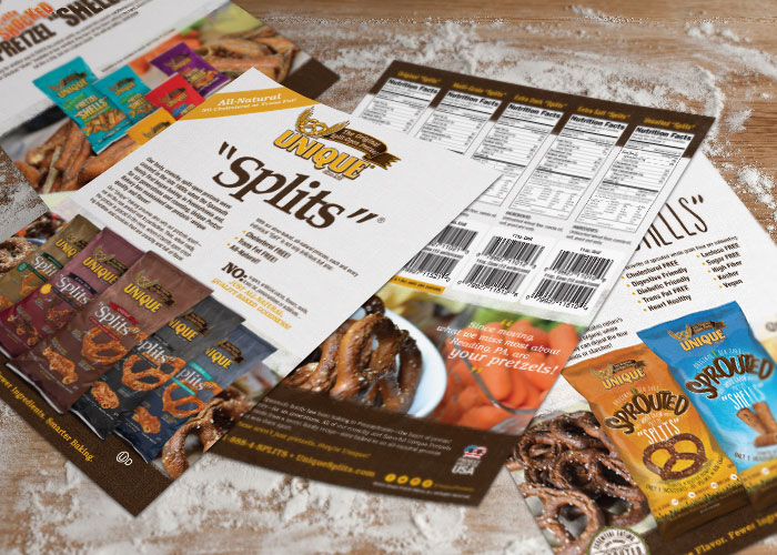 Unique Pretzel Bakery Marketing Collateral Development