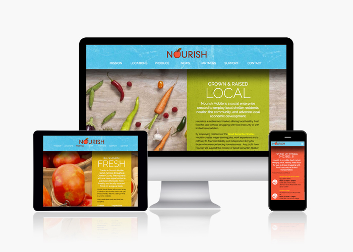Nourish Mobile Market Website